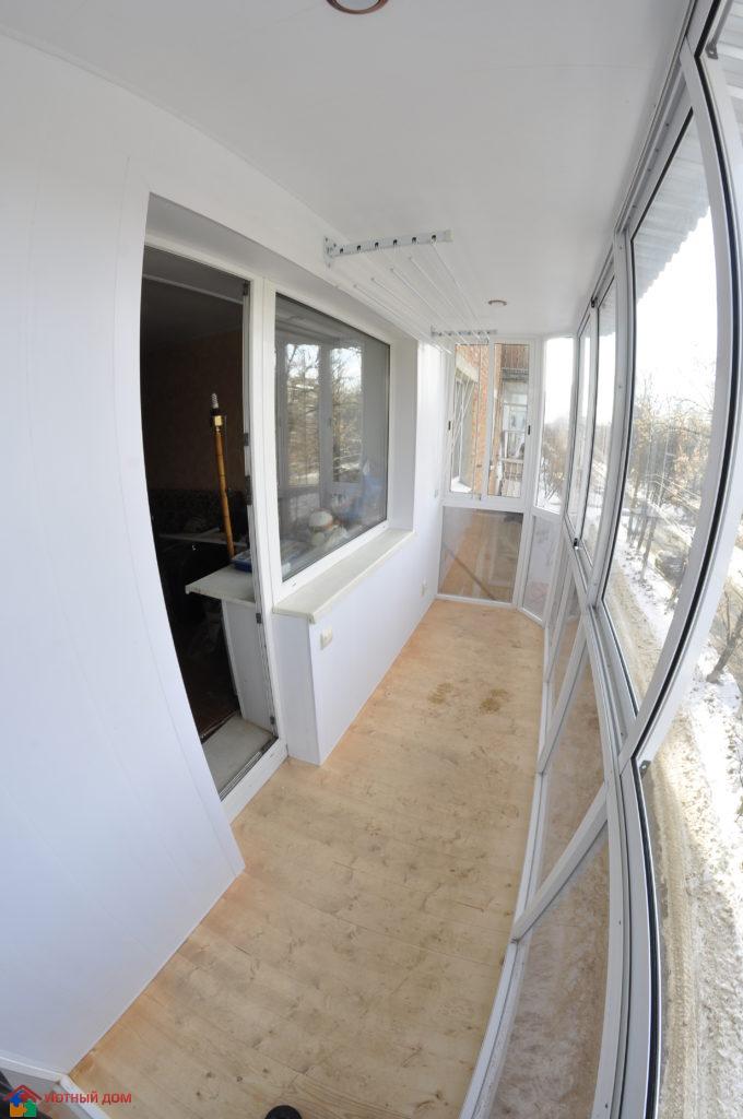обшивка балкона панелями пвх