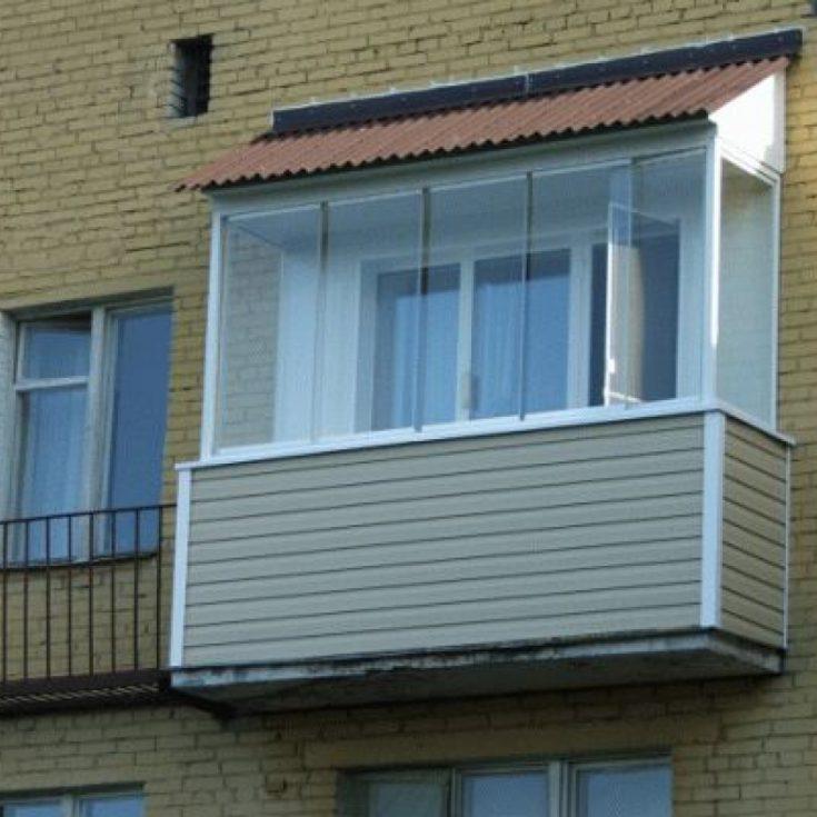 Крыша на балконах и лоджиях.