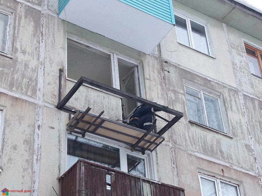 Ремонт балконной плиты уютный дом.